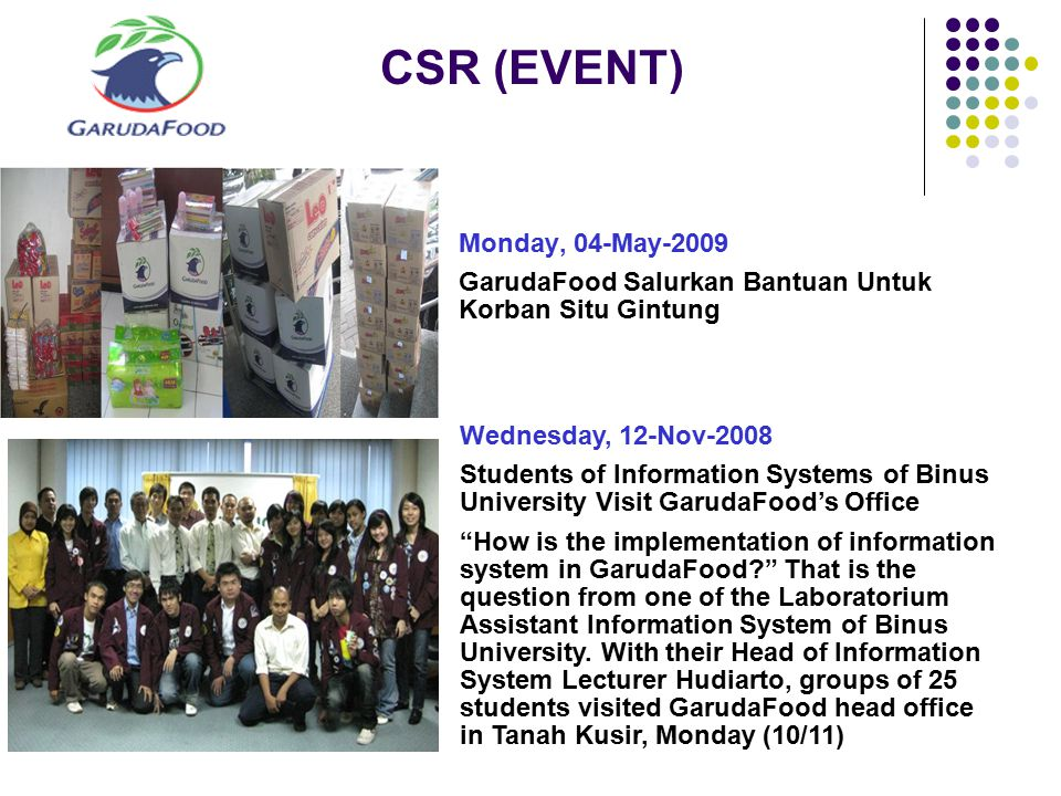 CSR (EVENT) Monday, 04-May-2009