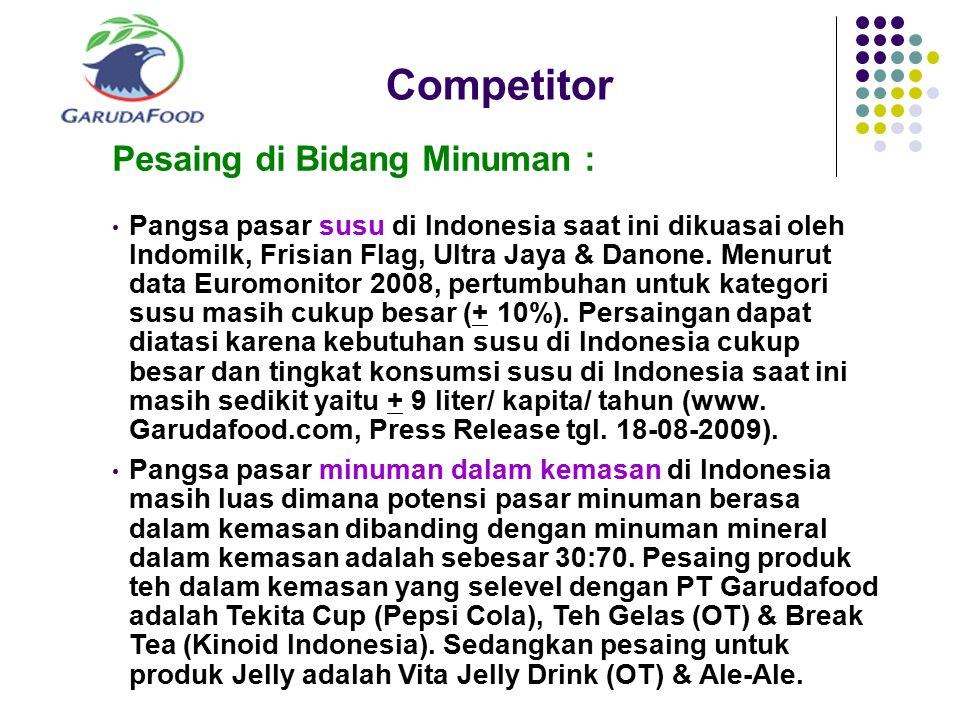 Competitor Pesaing di Bidang Minuman :