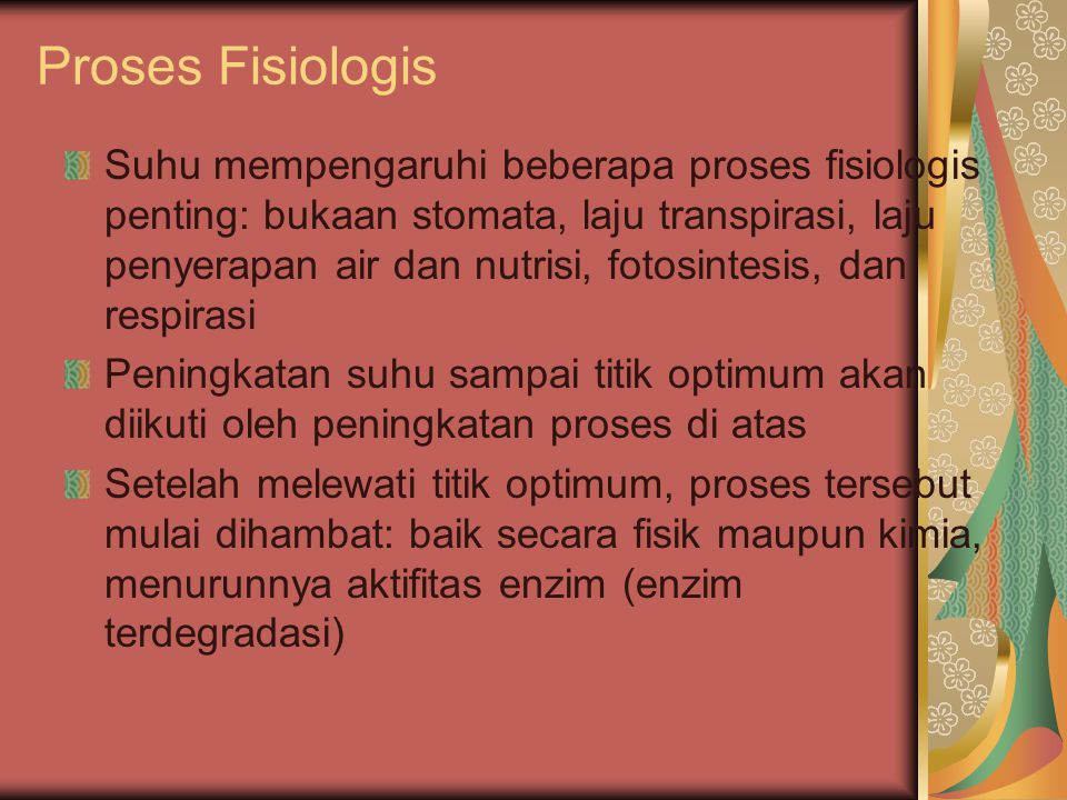 Proses Fisiologis