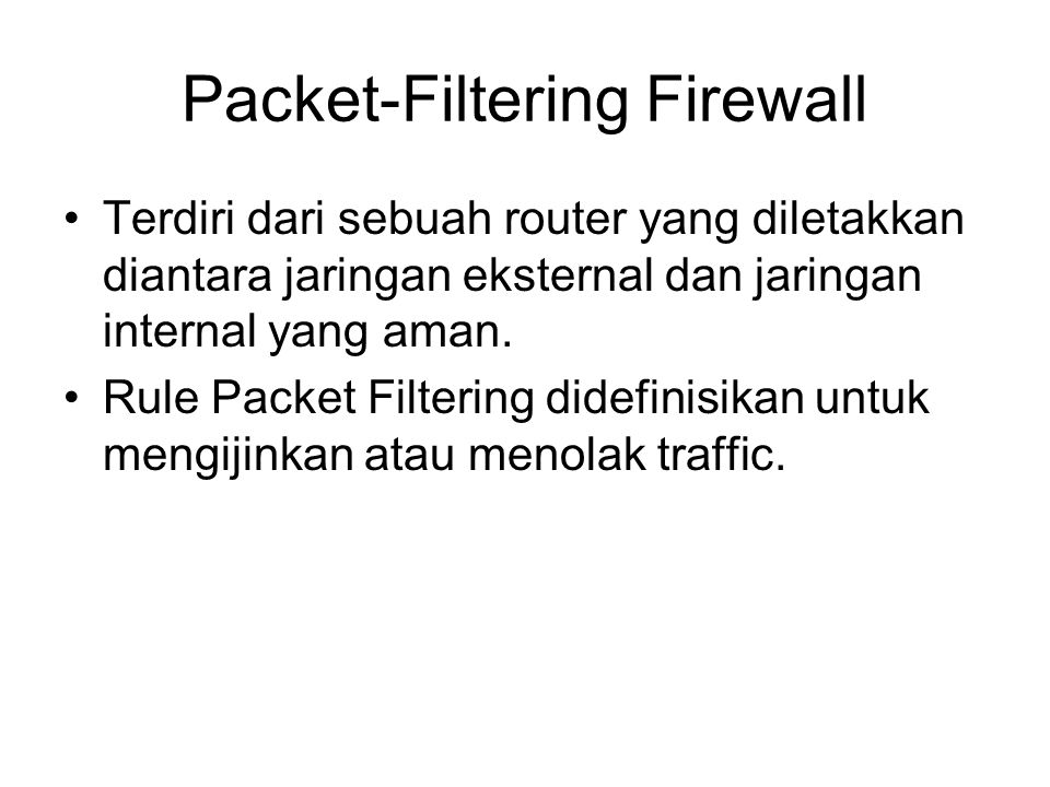 Packet-Filtering Firewall