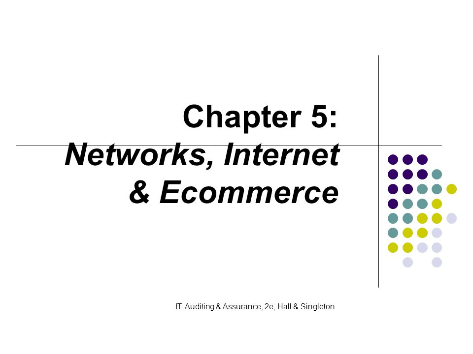 Chapter 5: Networks, Internet & Ecommerce