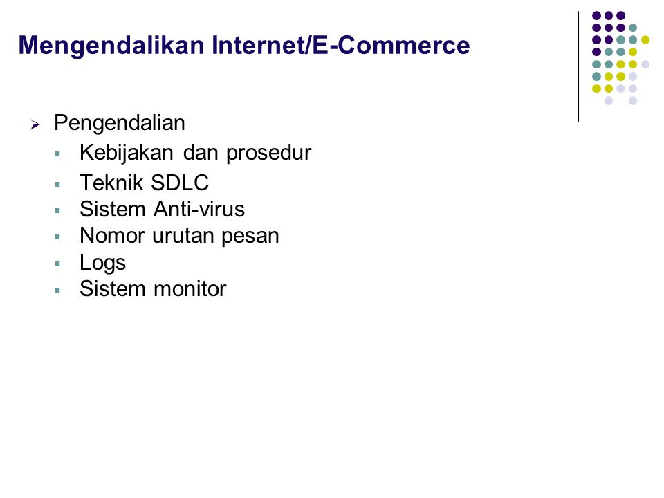 Mengendalikan Internet/E-Commerce