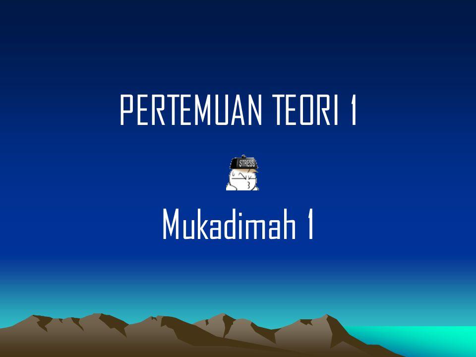 PERTEMUAN TEORI 1 Mukadimah 1