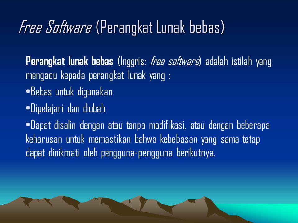 Free Software (Perangkat Lunak bebas)