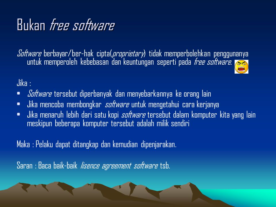 Bukan free software