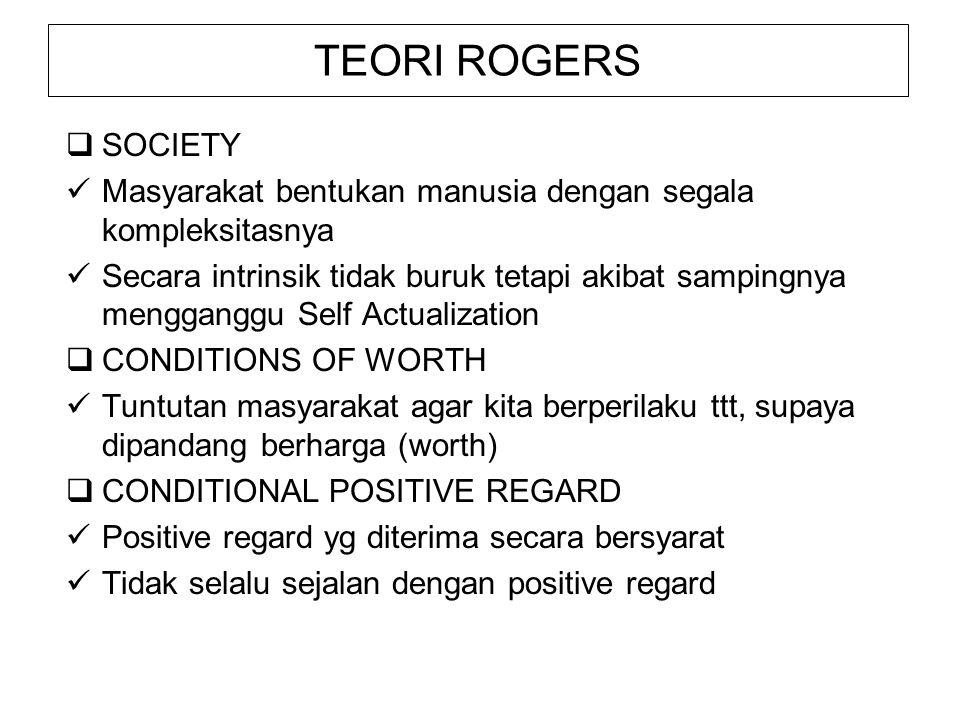 TEORI ROGERS SOCIETY. Masyarakat bentukan manusia dengan segala kompleksitasnya.