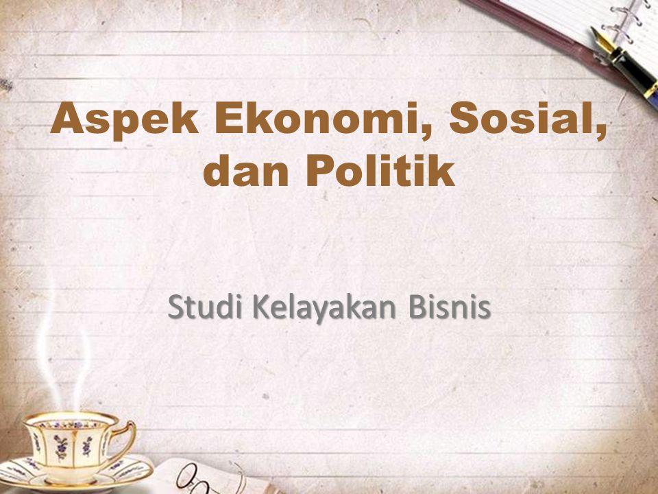 Aspek Ekonomi, Sosial, dan Politik