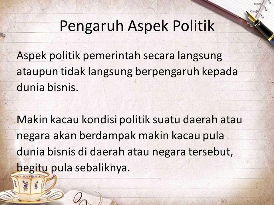 Pengaruh Aspek Politik