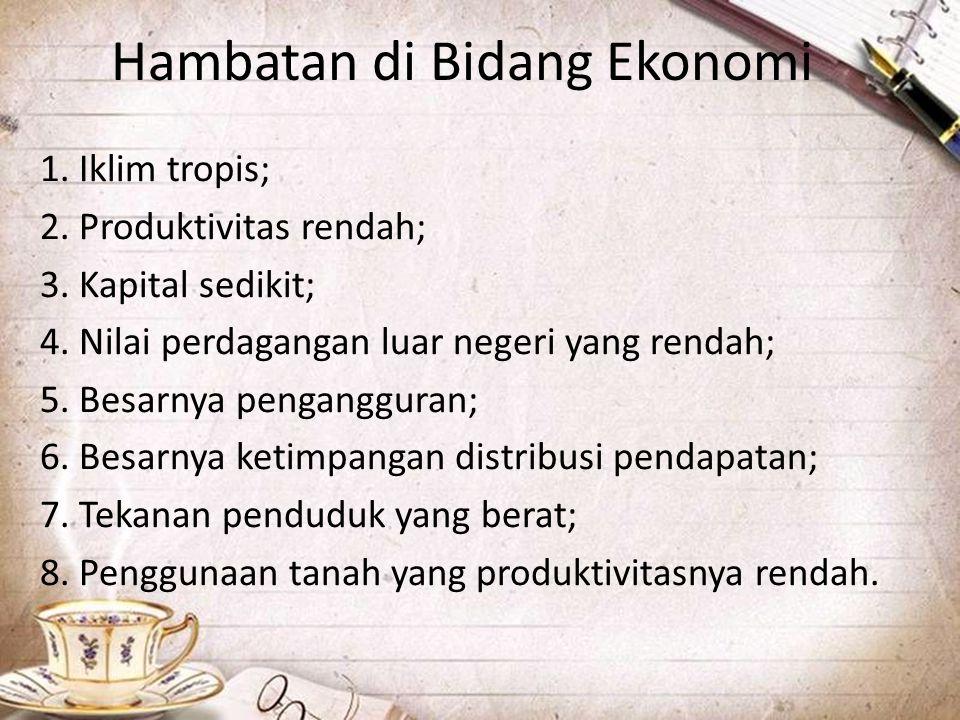 Hambatan di Bidang Ekonomi