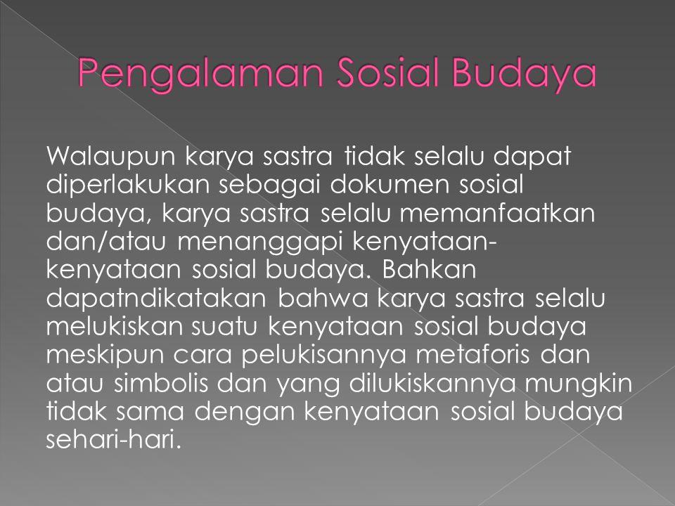 Pengalaman Sosial Budaya