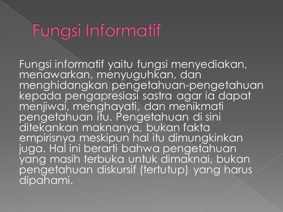 Fungsi Informatif