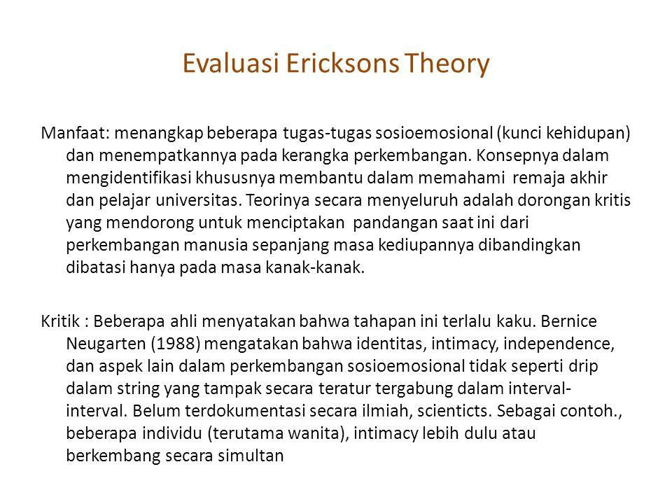 Evaluasi Ericksons Theory