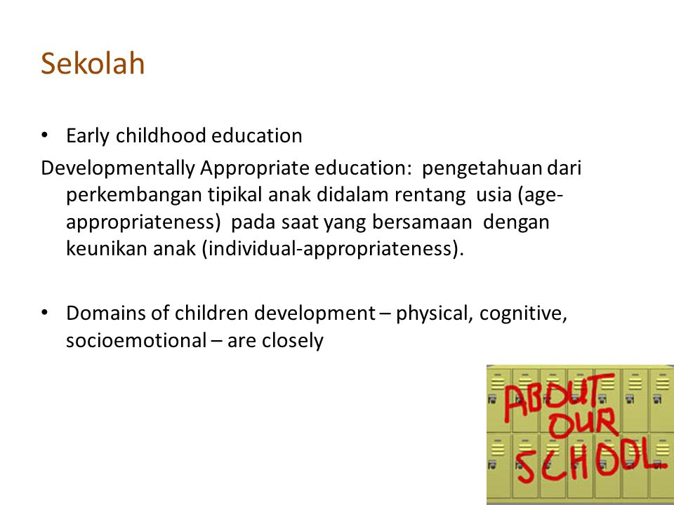 Sekolah Early childhood education