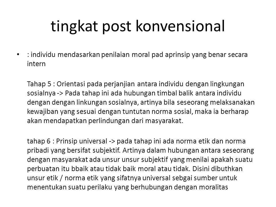 tingkat post konvensional