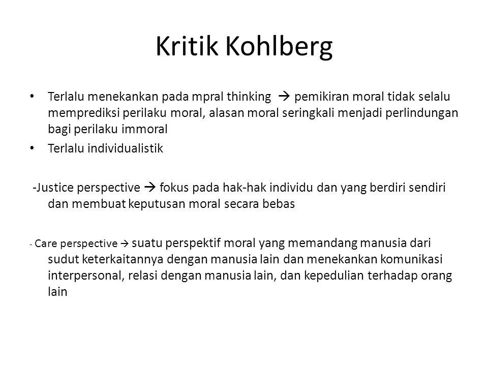 Kritik Kohlberg