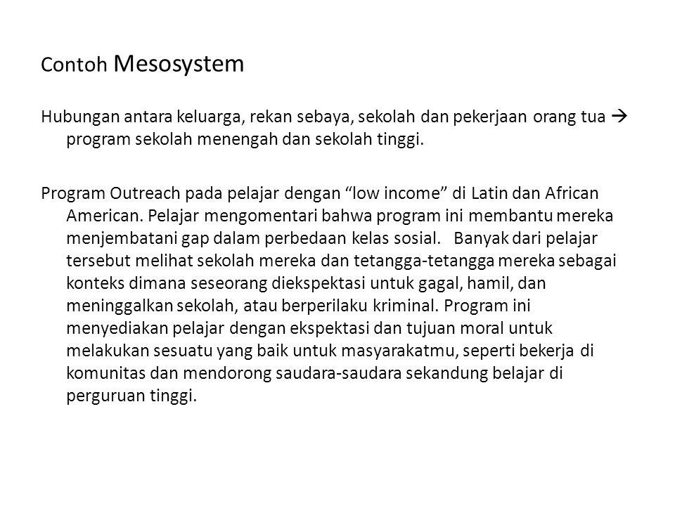 Contoh Mesosystem