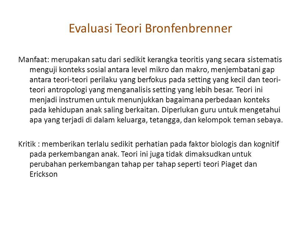 Evaluasi Teori Bronfenbrenner