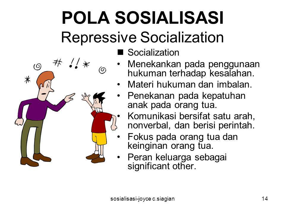 POLA SOSIALISASI Repressive Socialization