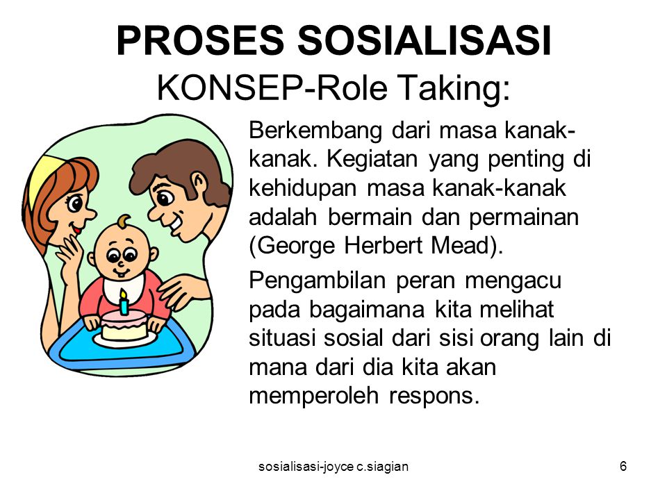 PROSES SOSIALISASI KONSEP-Role Taking: