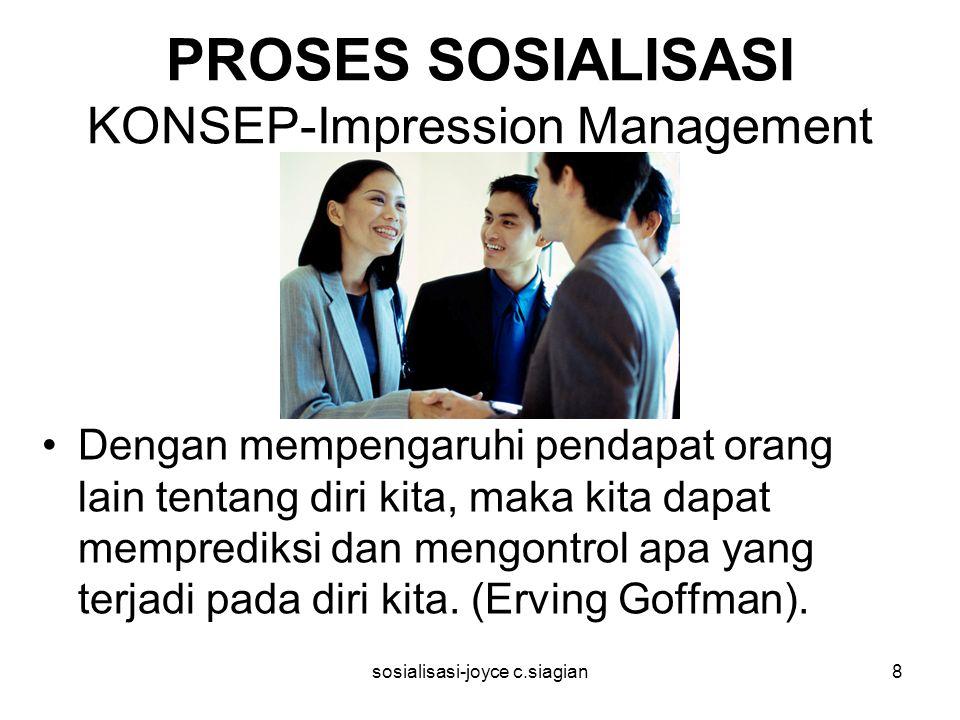 PROSES SOSIALISASI KONSEP-Impression Management