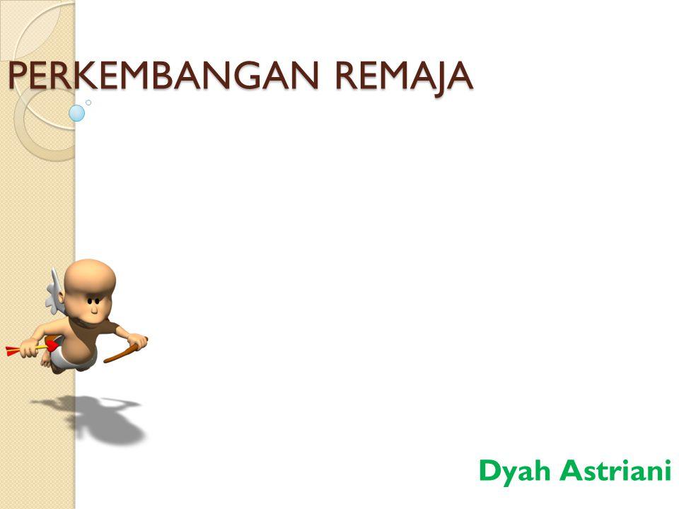 PERKEMBANGAN REMAJA Dyah Astriani