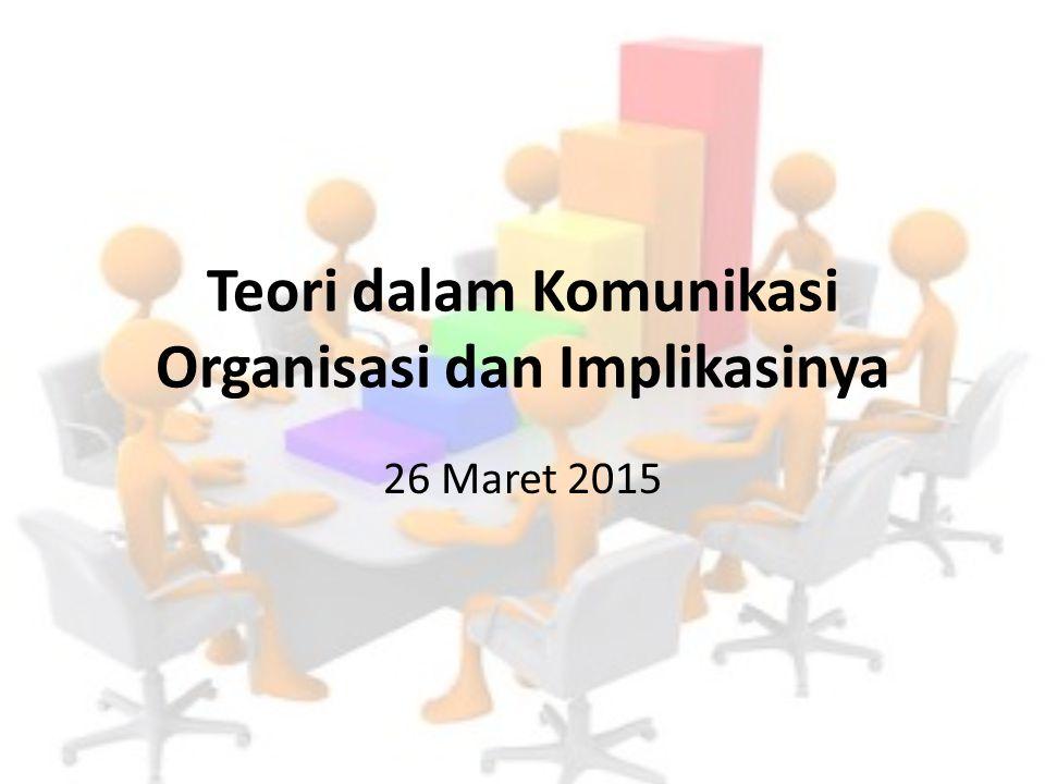 Teori dalam Komunikasi Organisasi dan Implikasinya