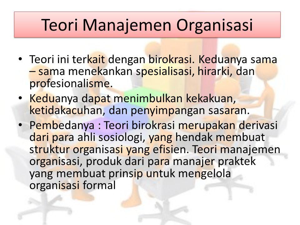 Teori Manajemen Organisasi