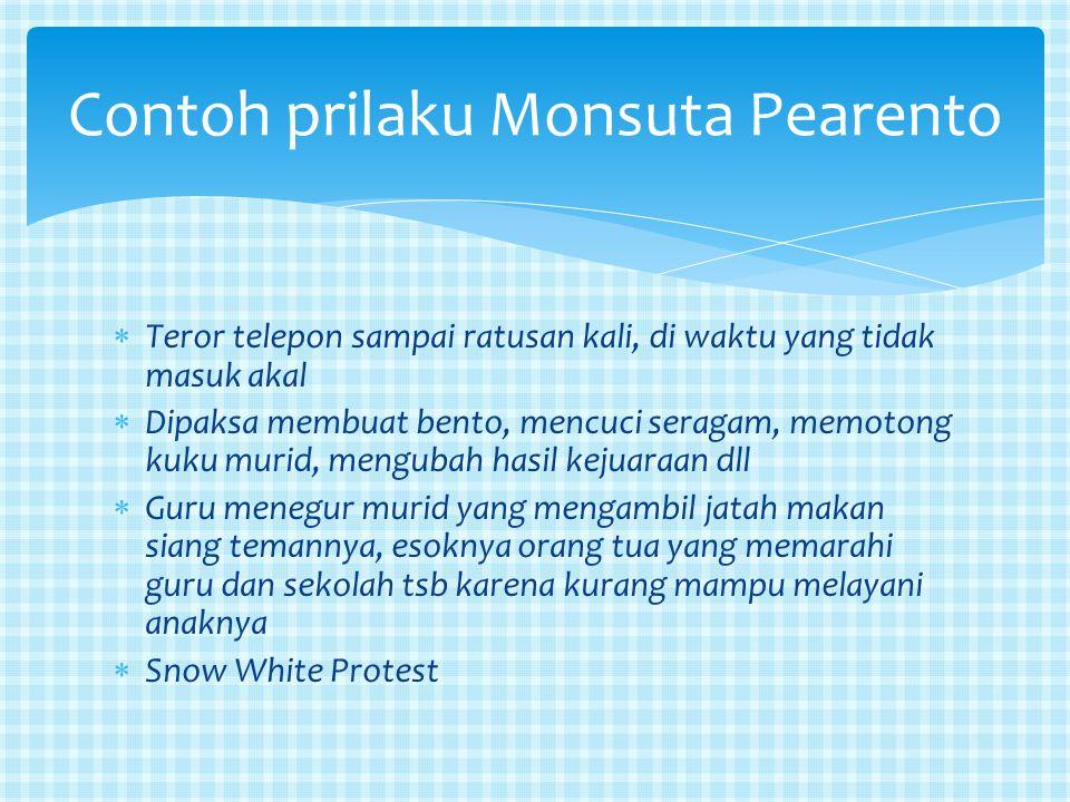 Contoh prilaku Monsuta Pearento