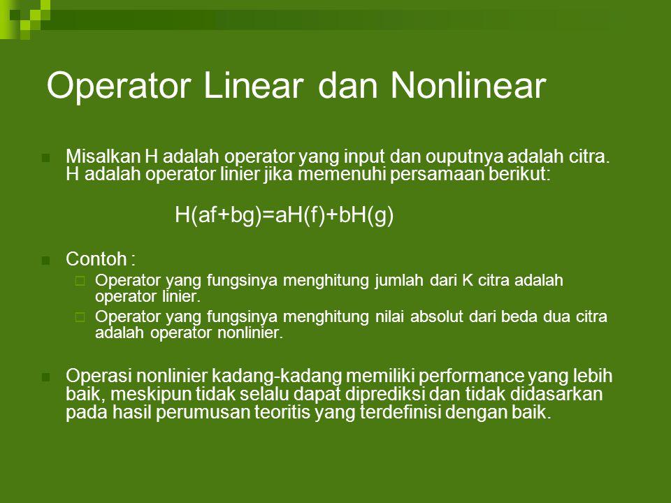 Operator Linear dan Nonlinear