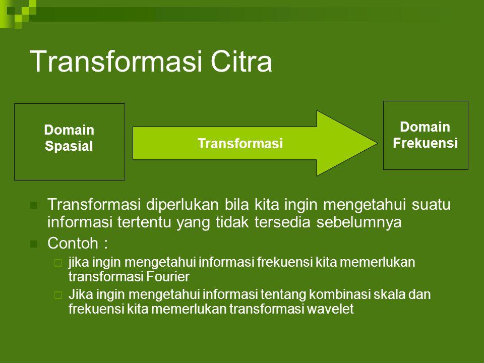 Transformasi Citra Domain. Spasial. Frekuensi. Transformasi.