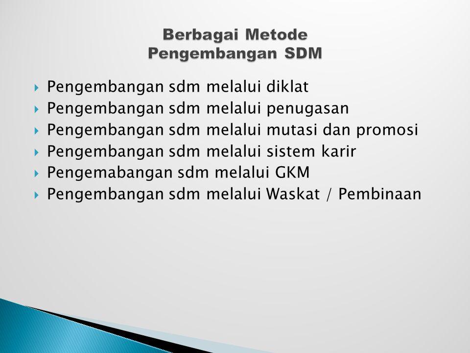 Berbagai Metode Pengembangan SDM
