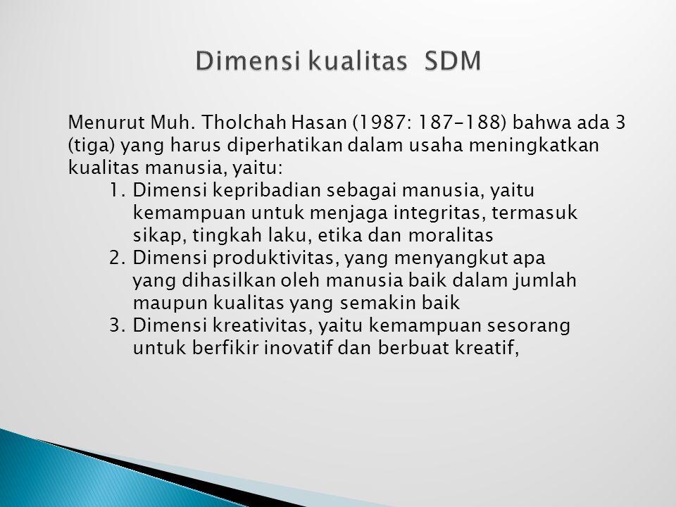 Dimensi kualitas SDM