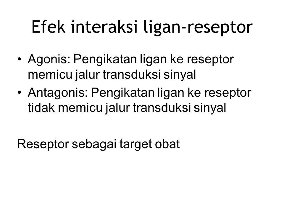 Efek interaksi ligan-reseptor