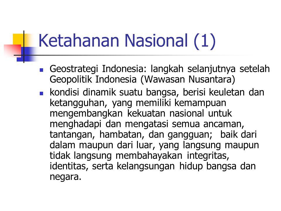 Ketahanan Nasional (1) Geostrategi Indonesia: langkah selanjutnya setelah Geopolitik Indonesia (Wawasan Nusantara)