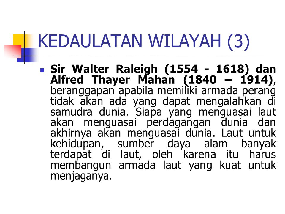 KEDAULATAN WILAYAH (3)