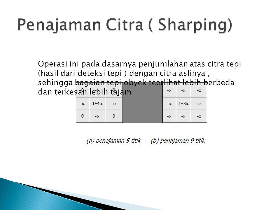 Penajaman Citra ( Sharping)