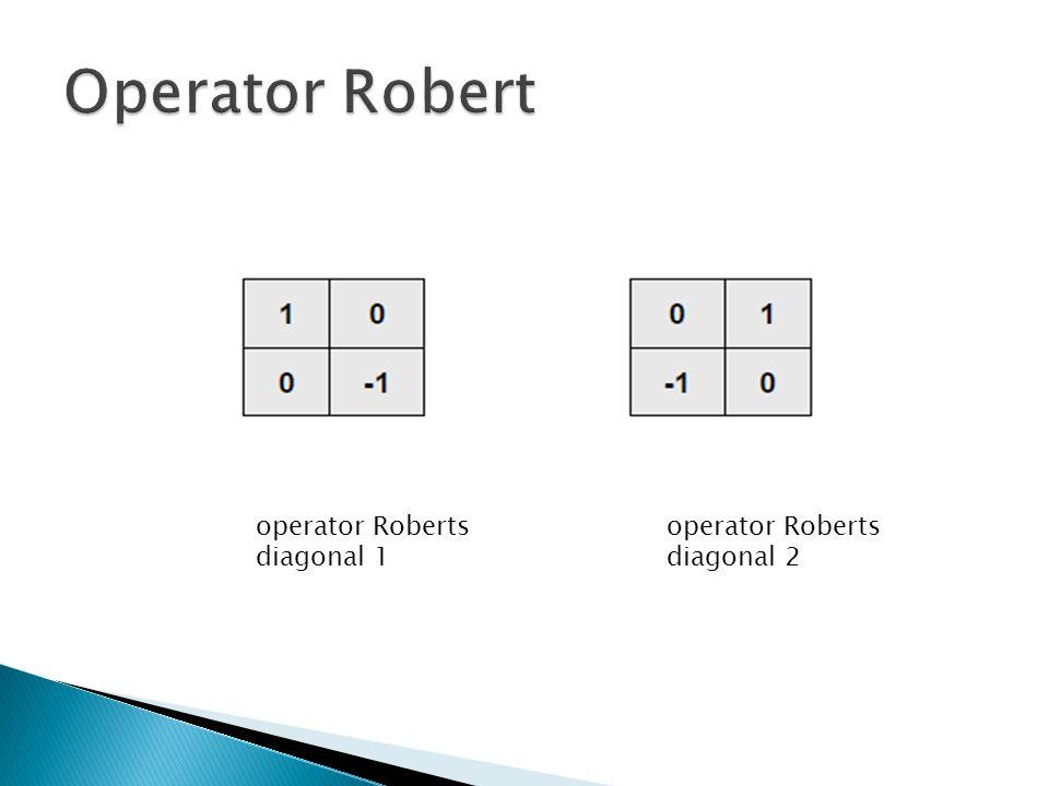Operator Robert operator Roberts diagonal 1 operator Roberts