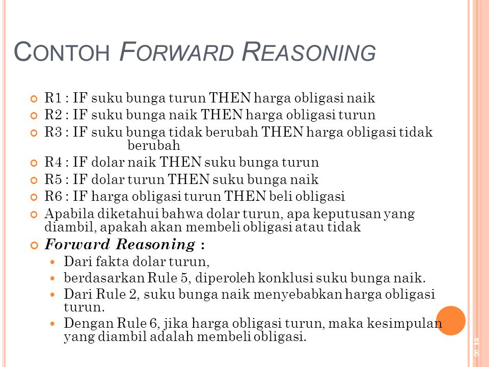 Contoh Forward Reasoning