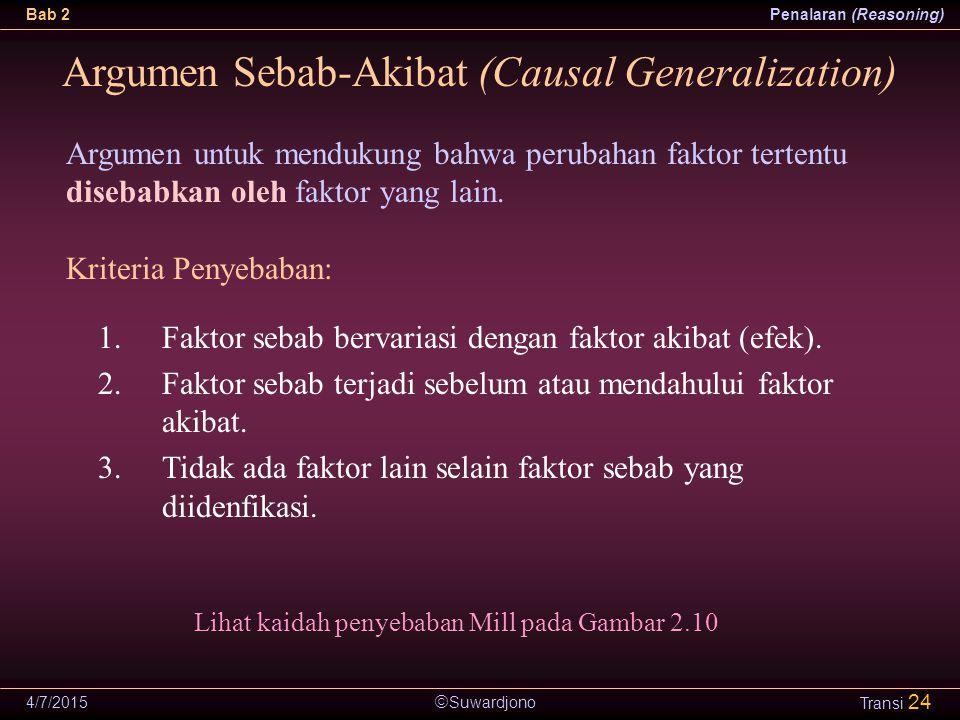 Argumen Sebab-Akibat (Causal Generalization)