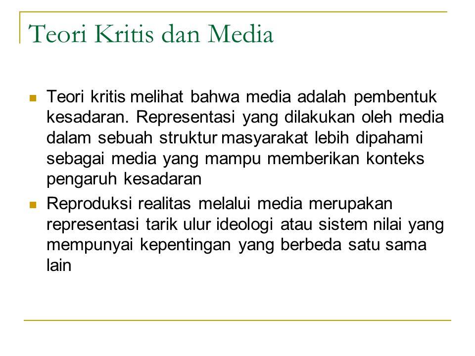 Teori Kritis dan Media