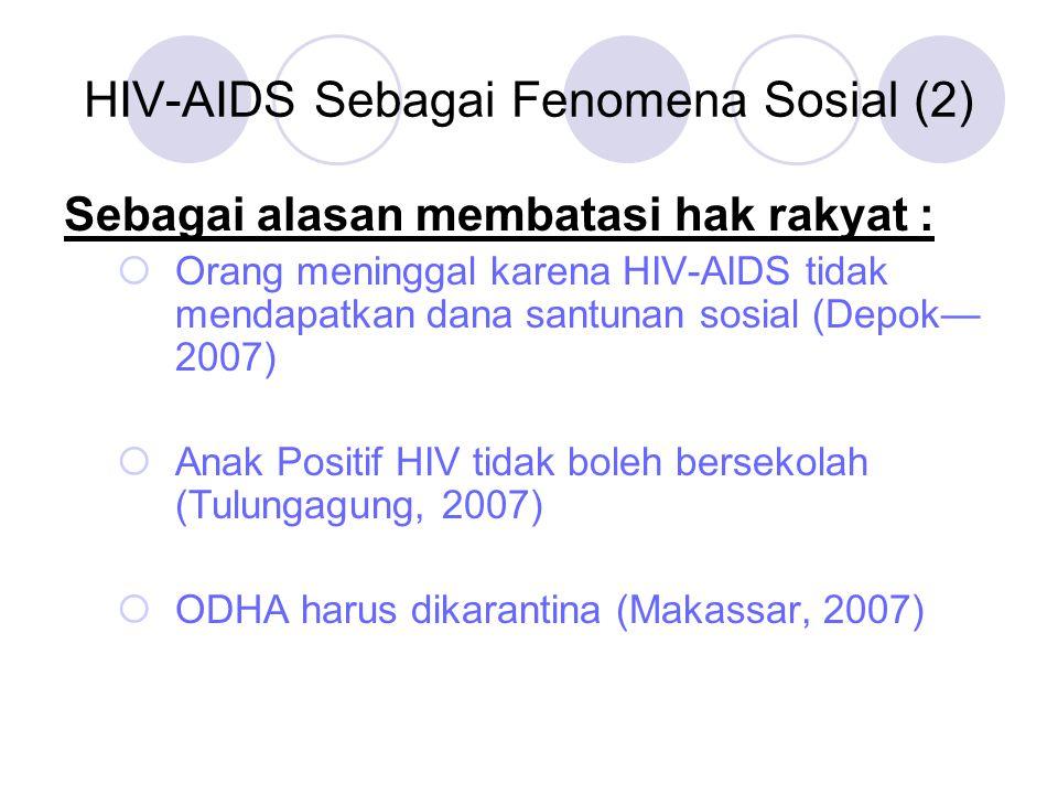 HIV-AIDS Sebagai Fenomena Sosial (2)