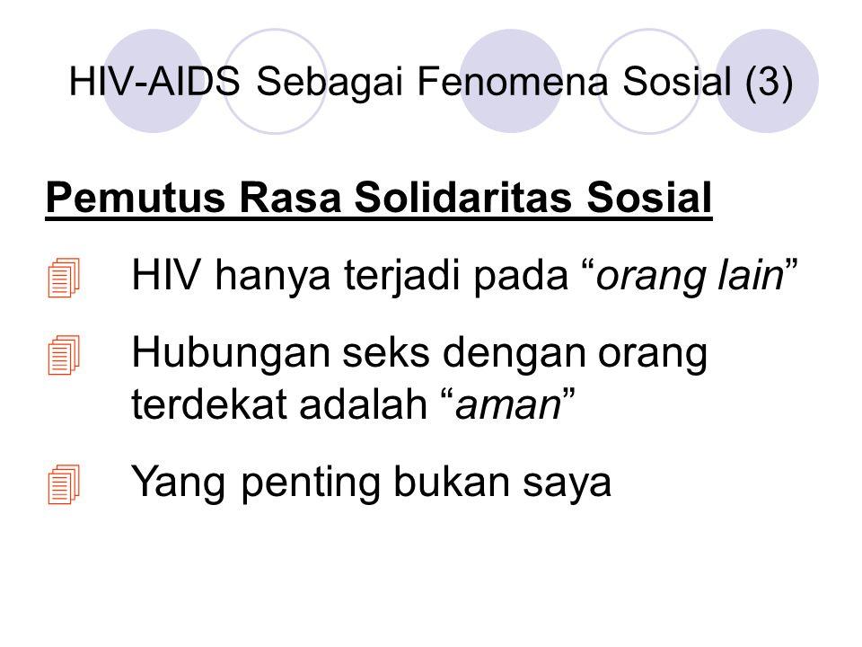 HIV-AIDS Sebagai Fenomena Sosial (3)