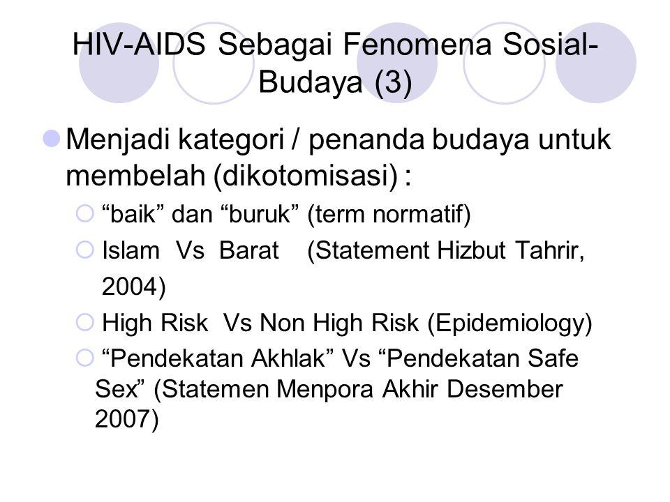 HIV-AIDS Sebagai Fenomena Sosial-Budaya (3)