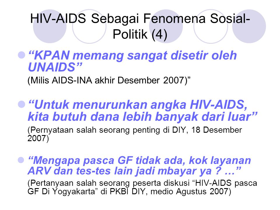 HIV-AIDS Sebagai Fenomena Sosial-Politik (4)