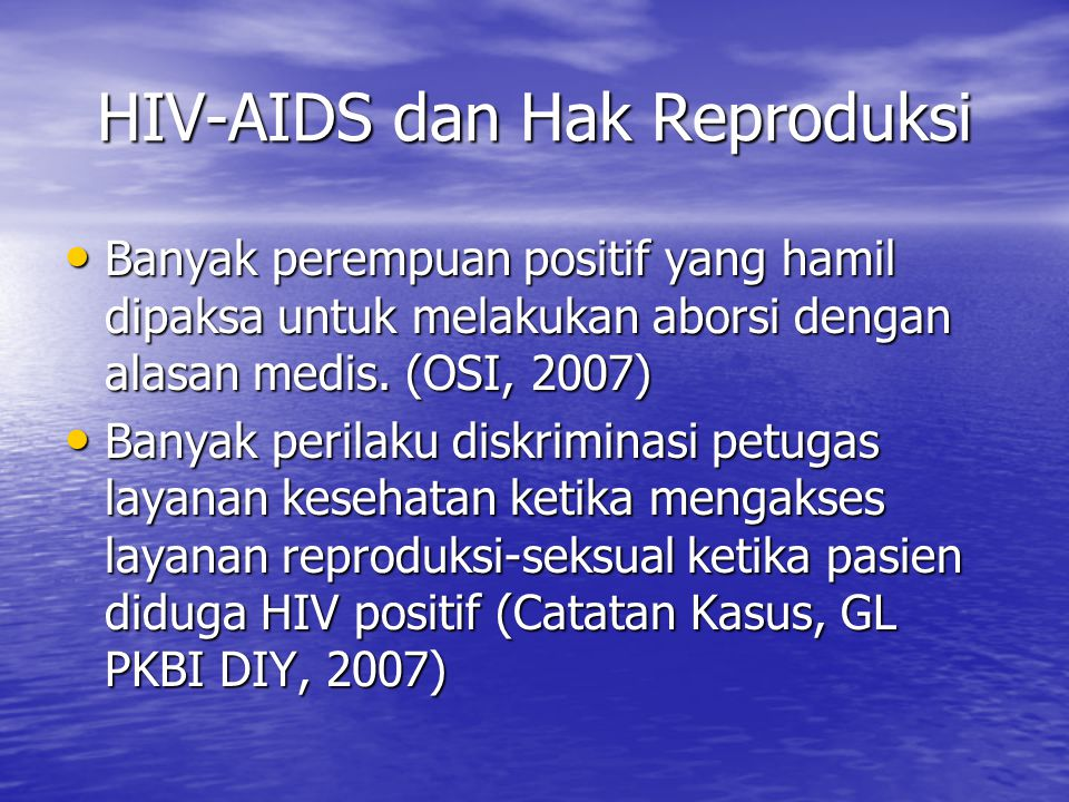 HIV-AIDS dan Hak Reproduksi