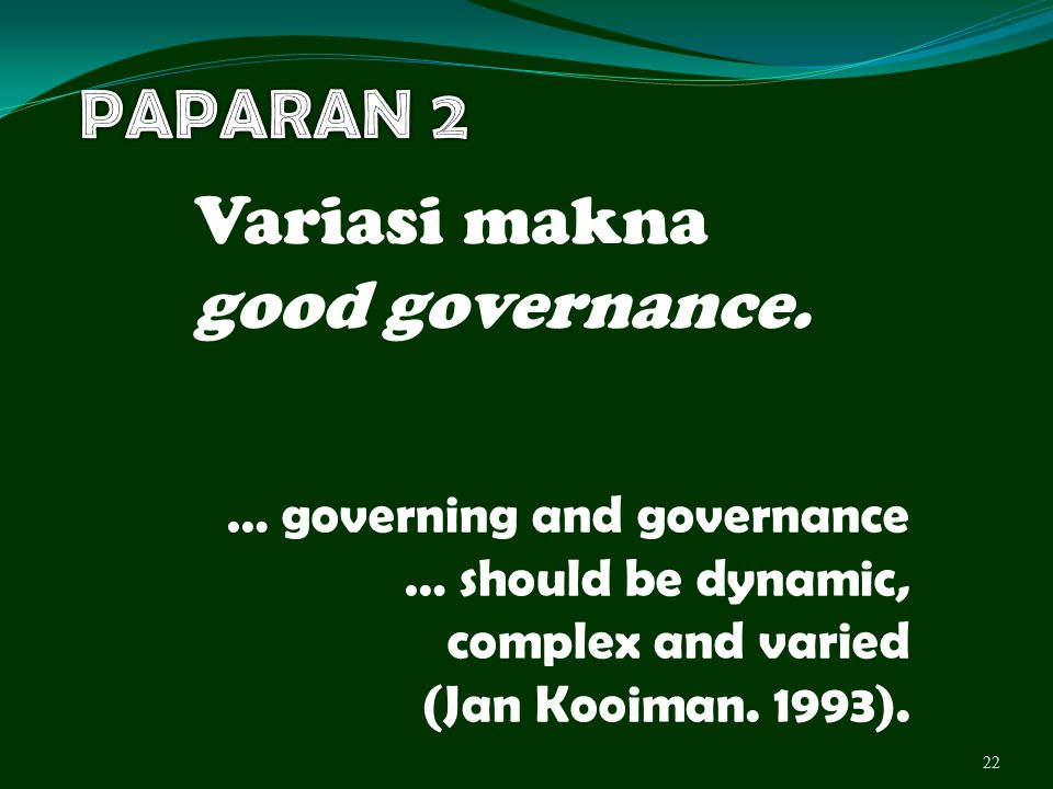 Variasi makna good governance.