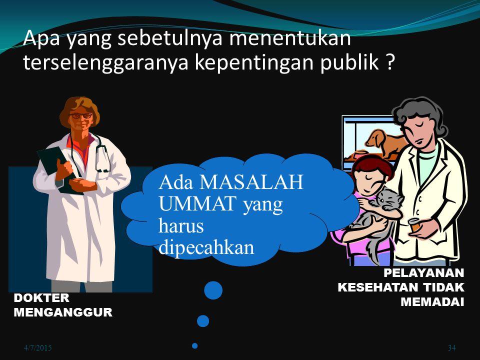 Apa yang sebetulnya menentukan terselenggaranya kepentingan publik