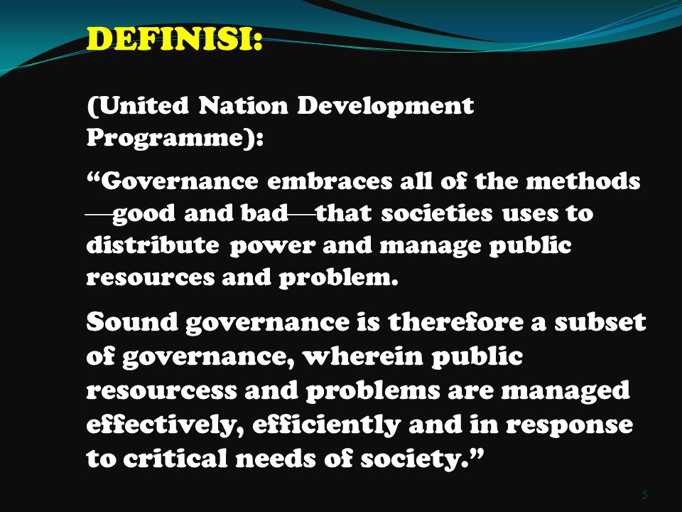 DEFINISI: (United Nation Development Programme):