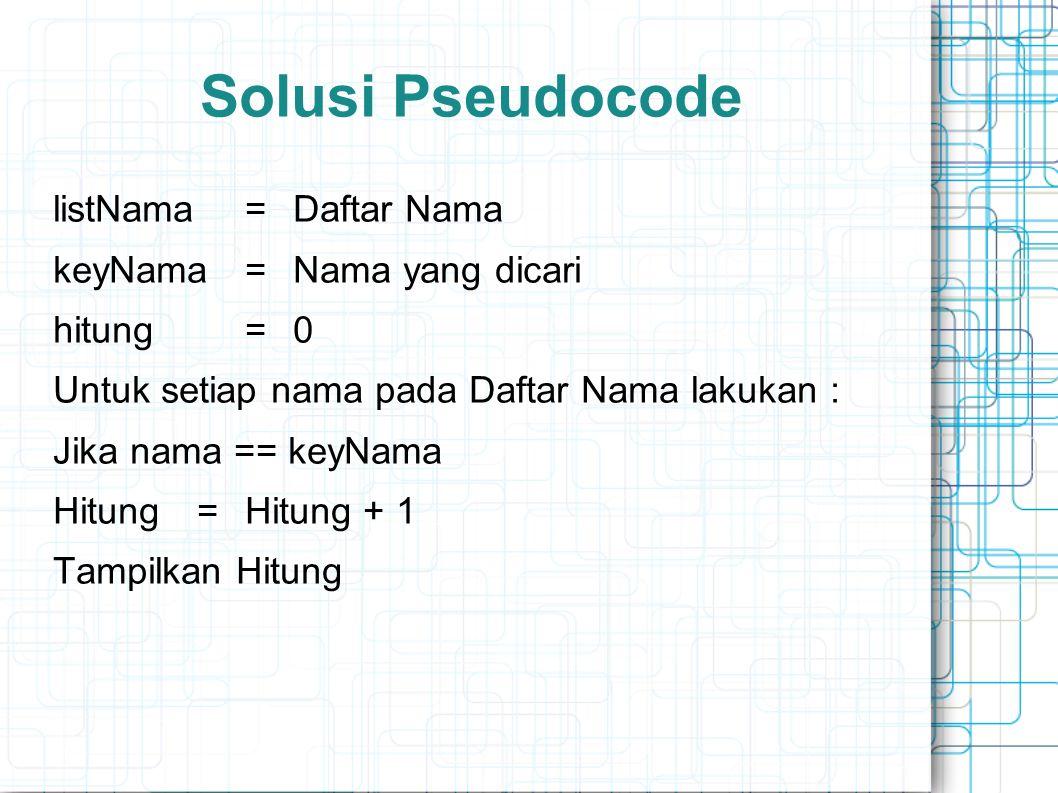 Solusi Pseudocode