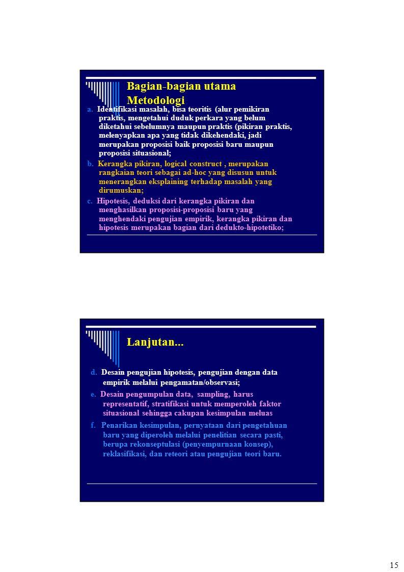 Bagian-bagian utama Metodologi Lanjutan...